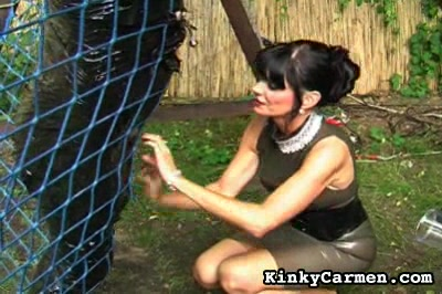 How to torture a penish. Mistress Carmen is an expert at cock-torture as she shows here with the help of another woman. Two torturers are better than one!