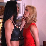 Womans place1. Carmen puts this slut in her place - hands and knees ad whipped in the kitchen