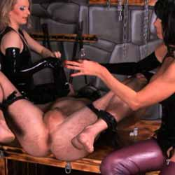 Plug my bottom dominatrix. That is the motto Baronessa di Rivera and Miss Emelie are using their well trained extreme-anal-slave.