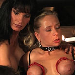 Dungeon conflict  mistress carmen lashes out at her trembling slaves Mistress Carmen lashes out at her trembling slaves.